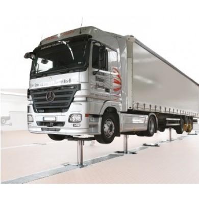Подъемник 3-х плунжерный, г/п 2х 15 тонн для грузовых автомобилей