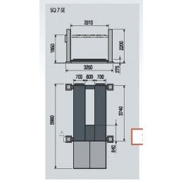 Подъёмник четырехстоечный, электромеханический, г/п 10 т для погрузчиков