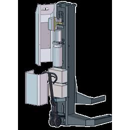 Комплект из 4-х подкатных колонн г/п 4х7,5 т электрогидравлический, беспроводной