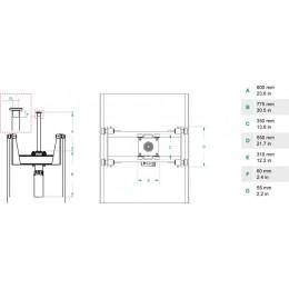 Домкрат ямный подвесной, г/п 15 т. до 600 мм