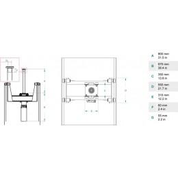 Домкрат ямный подвесной, г/п 10 т. до 800 мм