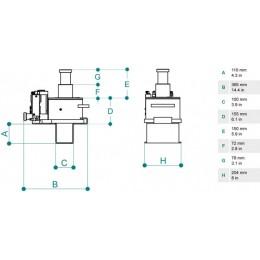 Домкрат ямный подвесной PTJ 30152TM