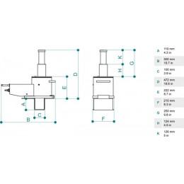 Домкрат ямный подвесной PTJ 30172T