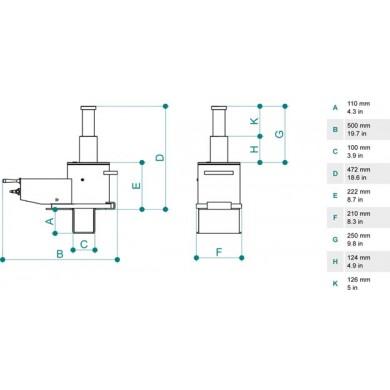 Домкрат ямный подвесной PTJ 30212T