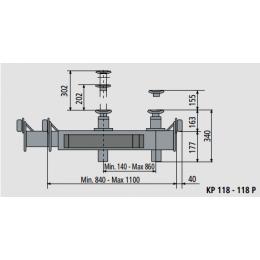 Канавный подъёмник гидравлический, г/п 13,5т, траверса