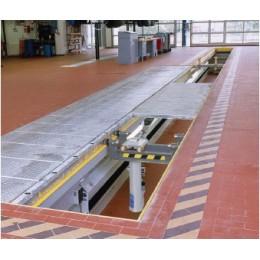 Канавный подъёмник ямный, пневмогидравлический, г/п 15,5 т. до 920 мм